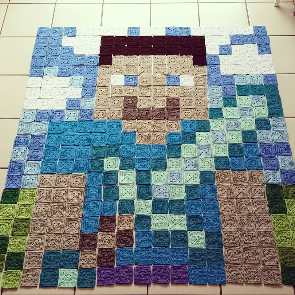 Crochet Minecraft Blanket Pattern – The LOOPY STITCH