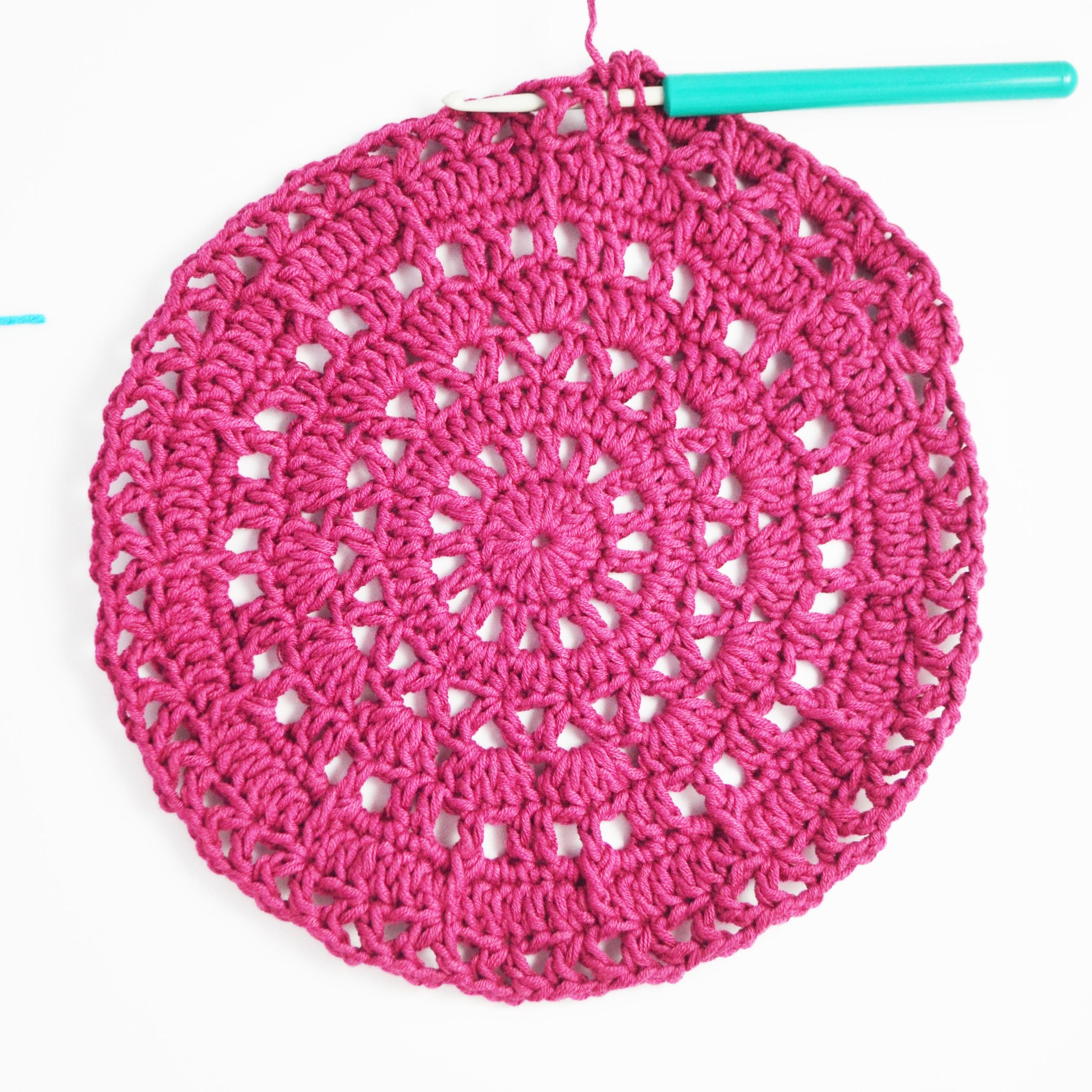 Front double crochet placement