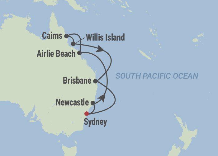 crochet cruise map
